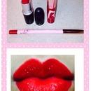 RiRi Woo lipstick, lip liner & lip glass