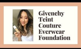 NEW givenchy teint couture everwear foundation⎮wear test & review