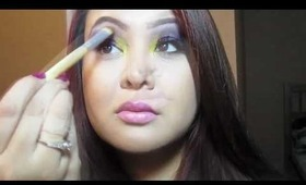 Tutorial: Purple Smokey Eyes with a Pop of Yellow