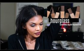 Trying the Hourglass Seamless Liquid Foundation | Jacena Miles