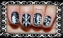 Chalkboard Winter Mix Nail Design (for short nails) - Day 9