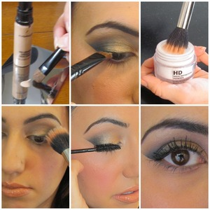 Apply leftover concealer & powder to your lashes before mascara to make them look fuller/thicker!