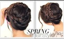 ★ SPRING HAIRSTYLES | CUTE CROWN BRAID TUTORIAL | UPDO HAIRSTYLE
