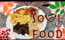 SOUTHERN COOKING SOUL FOOD/ MAC & CHEESE CHICKEN COLLARDS CORNBREAD MASHED POTATOES