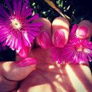 Flower Nails/Fucsia Nails/Nails