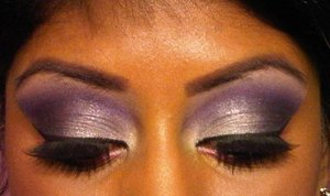 silver-purple smokey eye