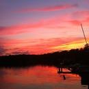 Sunset at the lake!(: