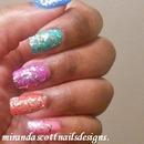 Glitter Skittles Nails