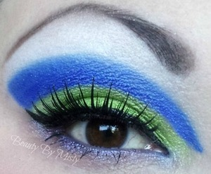 Toy story inspired cut crease