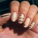 Nude and gold designs