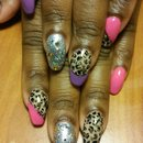 leopard nails but SauceC Nailz