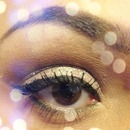 neutral glitter eye