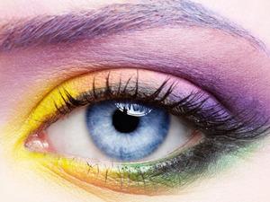 multi-colured eye