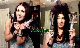 How to BACKCOMB your hair DAMAGE FREE!
