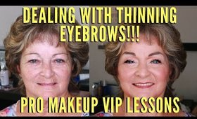 How To Deal With Thinning Eyebrows For Mature Women | mathias4makeup