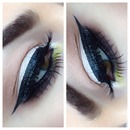 Winged liner with MAC True Chartreuse