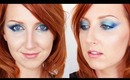 Teal and Gold Peacock Eyes - Makeup Tutorial