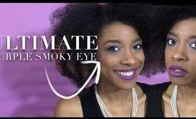 Ultimate Purple Smoky Eye + Lip  // My Little Sister Chose My Makeup