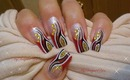 Abstract Red French with Gold, Black and White - ♥ MyDesigns4You ♥