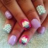 Pearly Cupcake Nails