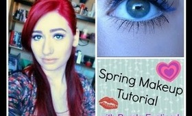 Spring Makeup Tutorial with Purple Eyeliner