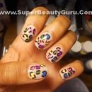 Colorful Leopard Print Nails