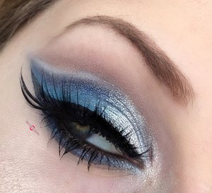 The ideals of Winter sealed with a fluffy vintage hat ;)! http://theyeballqueen.blogspot.com/2016/12/snowy-wintery-blue-cut-crease-w-nude.html