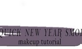 Super-Quick New Year Smokey Eye Makeup Tutorial