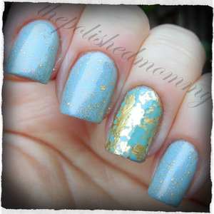 March Nail Art Challenge: Vintage. http://www.thepolishedmommy.com/2013/03/this-is-not-greatest-polish-in-world.html