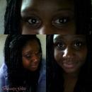 Bronze purple eyes