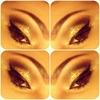 Black & Gold Glitter Eyes