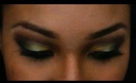 Green Eyeshadow for Prom (Using UD Theodora Palette)