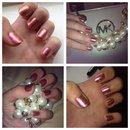 two tone nails wv added glitter