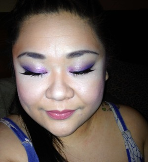 Holy reflective face!  Eye Makeup of the Day - 12/26/2011  Check out my blog post for products used: http://youthebeautiful.blogspot.com/2011/12/eye-makeup-of-day-purple.html
