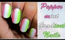 Peppermint gradient nails | Easy nail art Tutorial