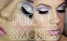 ♡ Dramatic Purple Smokey Eye with Winged Liner ♡