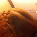 braided head band.