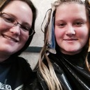 Getting hair dyed!