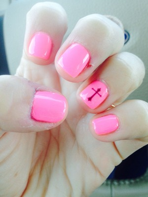 Cross gel nails