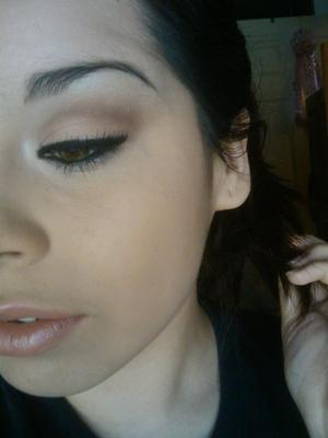 Let's go with NATURAL.  Using Coastal Scents Warm Palette & ELF Eyelashes.