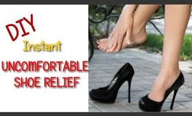 DIY Fast Relief For Uncomfortable Shoes -  Ms Toi