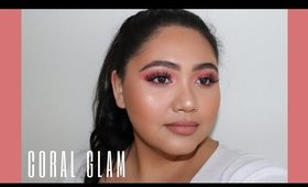 Simple Coral Glam