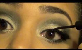 Holiday Series: Green and Gold Make-up Look