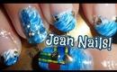 Easy Jean Nails! ❤ Fan Brush Technique