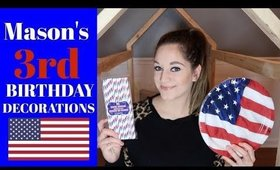 MASON'S 3RD BIRTHDAY SUPPLIES HAUL & IDEAS | 4TH OF JULY THEMED