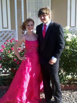 pink dress hair up