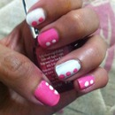 pink and white dots