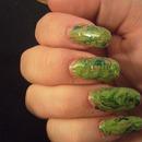 Green needle drag marble