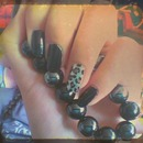 Black Nail Polish And Leopard Print #5 ^_^
