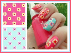 More photos and used polishes here: http://www.beautybysuzi.blogspot.sk/2012/08/nails-by-flower-fabric.html